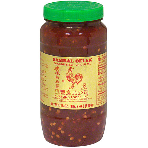 Sambal Oelek Ground Fresh Chili Paste, 18 oz (Pack of 6)