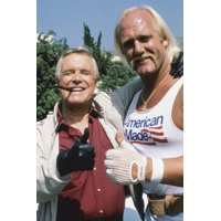 George Peppard and Hulk Hogan in The A-Team thumbs up together! 24x36 Poster