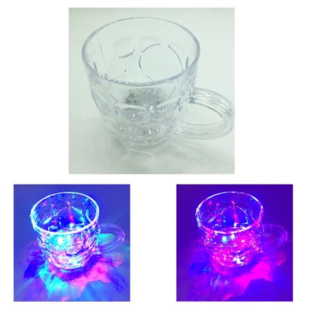 LED Colorful Flashing Light Up Wine Beer Glass Cup Mug for Bar Party Club Wedding - Light Up Cups