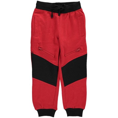 Quad Seven Little Boys  Quilted   Zipped  Joggers  Sizes 4   7
