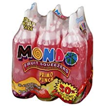MONDO PRIMO PUNCH FLAVOR DRINK 6 OZ FRUIT SQUEEZER BOTTLES 6 CT](Alcoholic Halloween Punch Drinks)