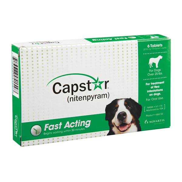 Capstar Fast-Acting Oral Flea Treatment for Dogs 25.1 – 125 lbs – 6 Doses