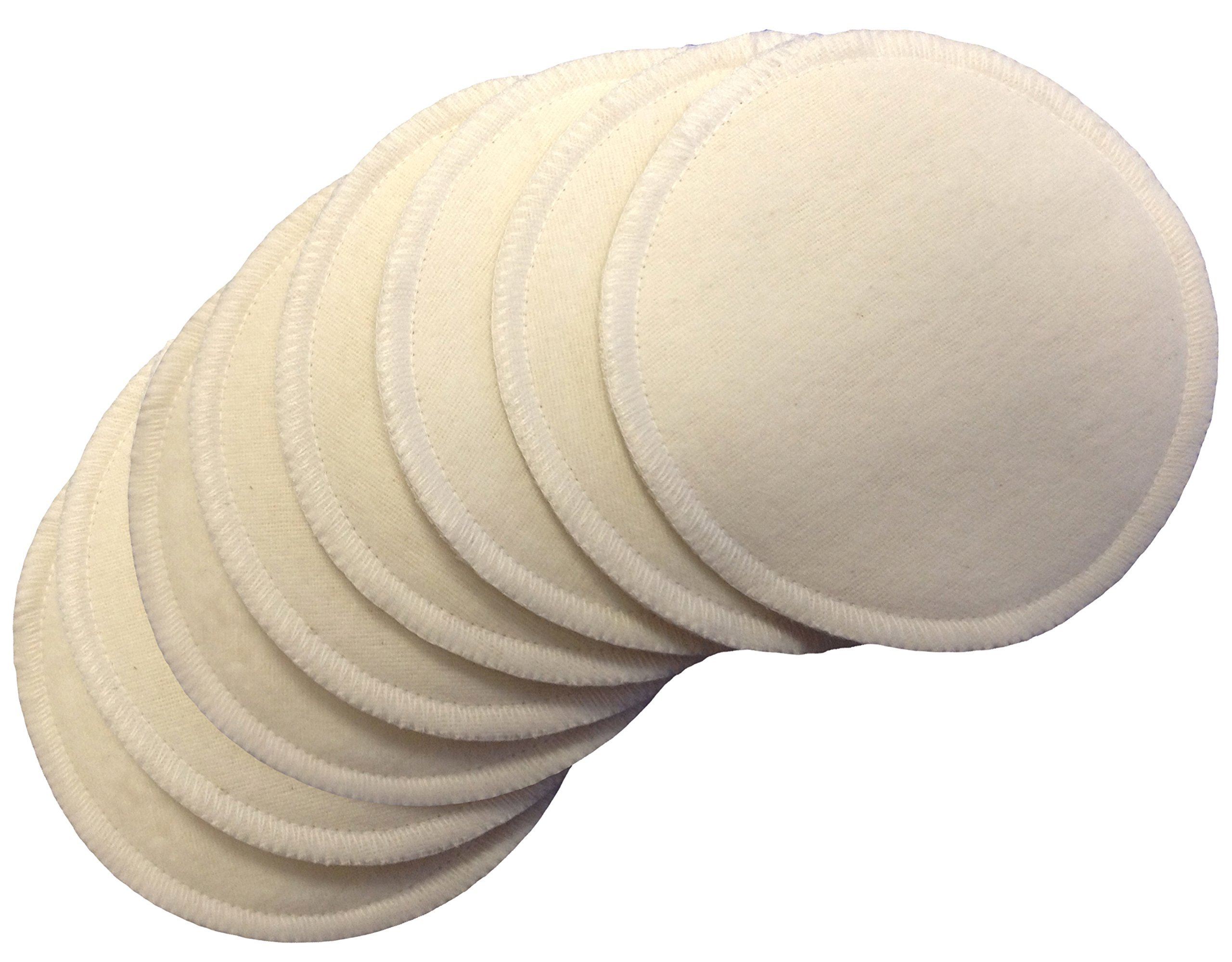 Click here to buy NuAngel Natural Cotton Washable Nursing Pads (8 Pads per Package) by NuAngel.
