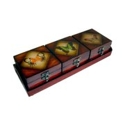 Cheung's FP-2462-4BF Wooden Butterfly Boxes (Set of 3)