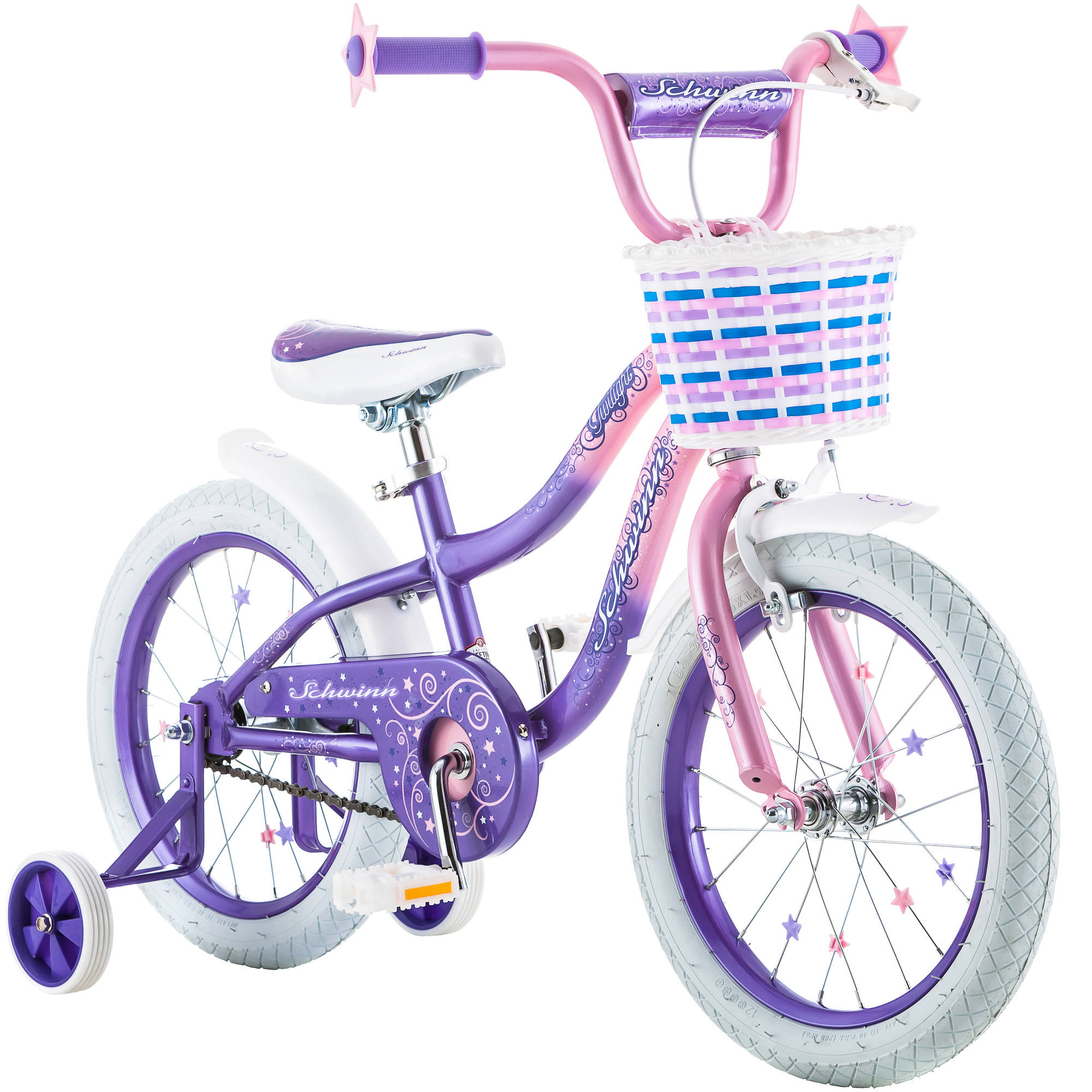 "16"" Schwinn Twilight Girls' Bike, Pink / Purple"