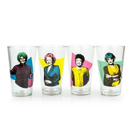 The Golden Girls Collectibles | Golden Girls Pint Glasses Set of 4 | 16 (Girl Glass)