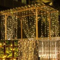 100 LED Twinkle Fairy Light String 33 Feet 8 Modes White/Warm White & Tail Plug Holiday Decoration