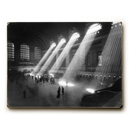 One Bella Casa 0003-2029-25 9 x 12 in. New York City C. 1940s Grand Central Railroad Solid Wood Wall Decor by Underwood Photo Archive