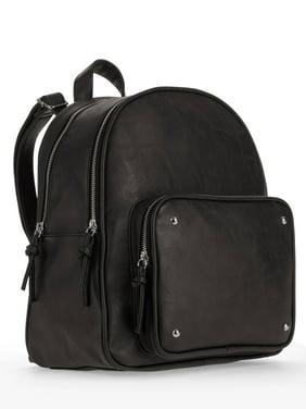 No Boundaries Black Front Zip Pocket Backpack