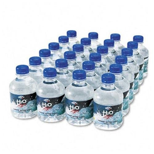 Office Snax Pure Natural Bottled Spring Water - 8 Fl Oz - Ready-server - 24 / Carton - Clear (00023)