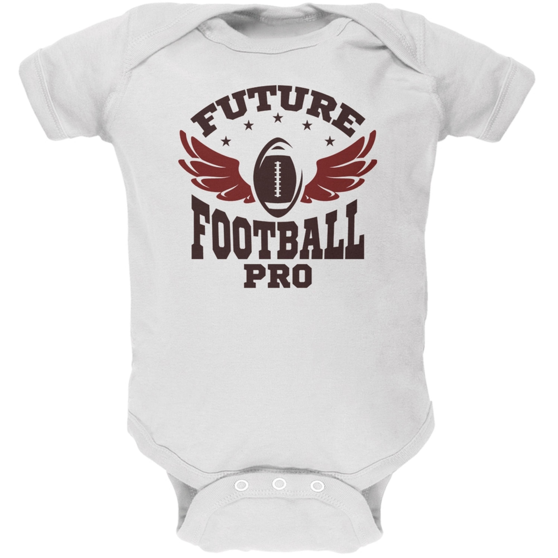 Future Football Pro White Soft Baby One Piece