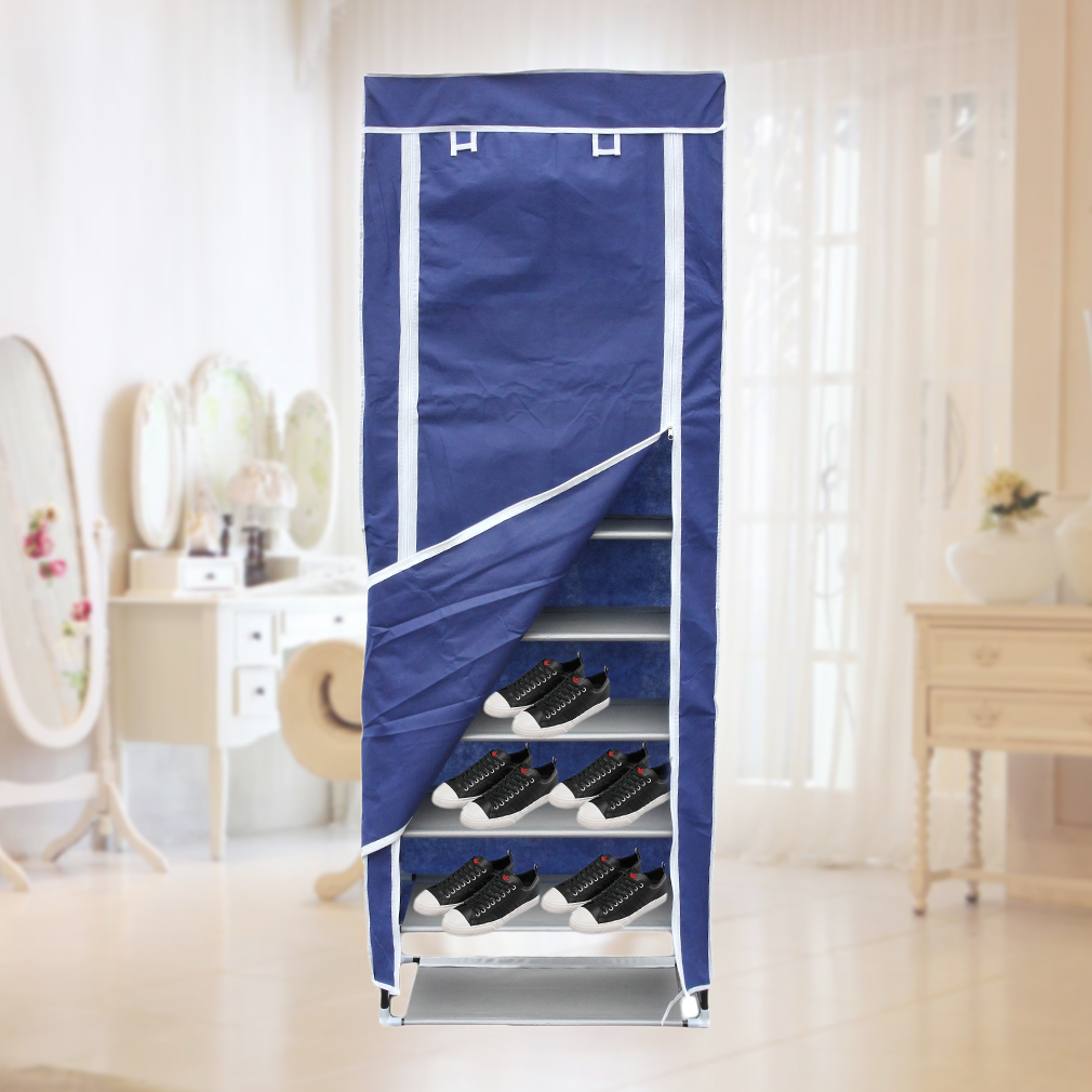 10 Tier 30 Pair Space Saving Storage Organizer Free Standing Shoe Tower Rack