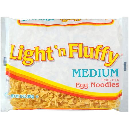 (4 pack) Light 'N Fluffy Medium Egg Noodles Pasta, 12 oz. Bag