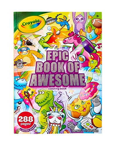 Crayola Epic Book Of Awesome, All-in-One Coloring Book Set, 288 Animal Coloring  Pages, Gift For Kids, Age 3, 4, 5, 6 Walmart Canada