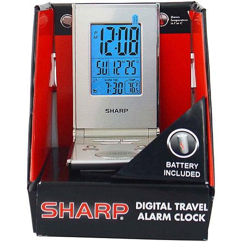 Sharp Lcd Slim Travel Alarm Clock