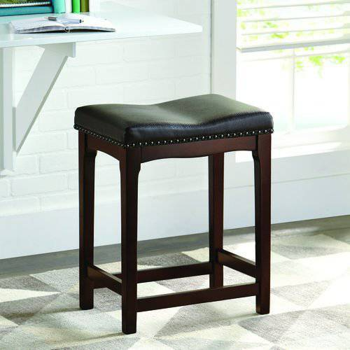 "Better Homes and Gardens 24"" Padded Saddle Stool, Set of 2"