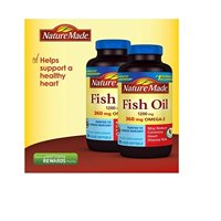 (2 Pack) Nature Made Fish Oil, 1200 mg, 200 ct, Softgels