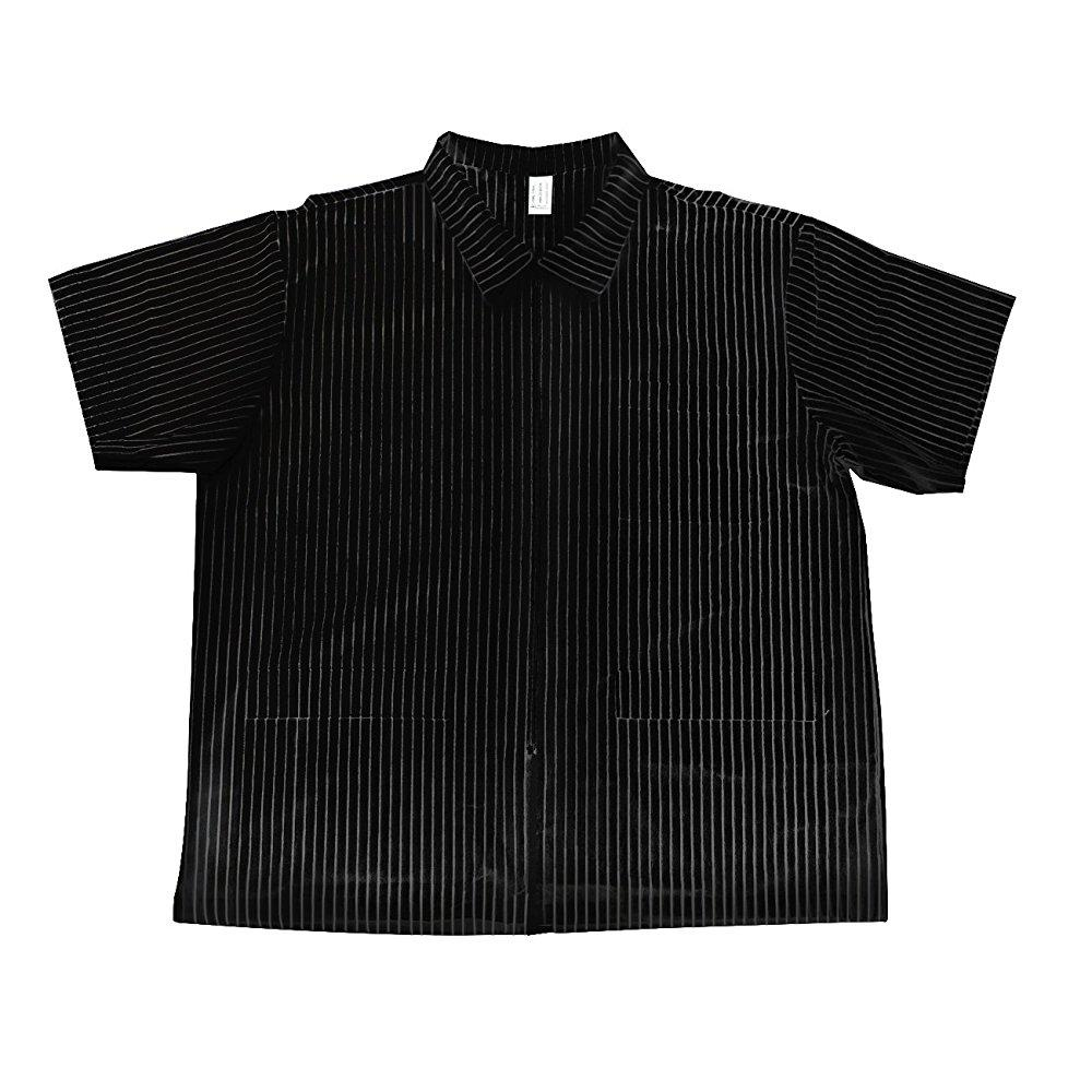 betty dain signature mvp barber jacket, black with white ...