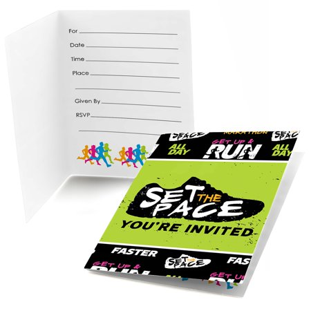 Set The Pace - Running - Fill In Track, Cross Country or Marathon Party Invitations (8 (Running Warehouse Gift Card Sale)
