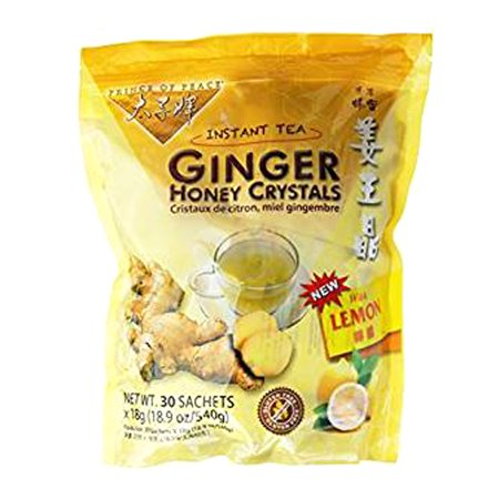 Prince of Peace Ginger Honey Crystals With Lemon Sachets, 30 Ea Extension Honey Ginger