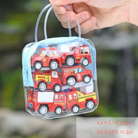 Small Toy Cars (Tinymills 6Pcs Kids Children Boy&Girl Truck Vehicle Mini Small Pull Back Car Toy Xmas)
