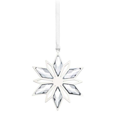 Swarovski Clear Crystal Christmas Ornament SILVER STAR #5064261 Swarovski Christmas Star