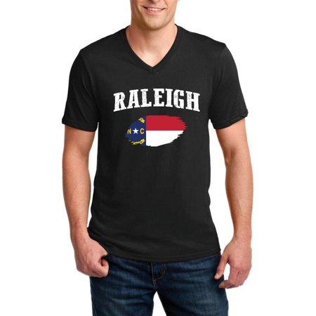 Raleigh North Carolina Men V-Neck Shirts - Party City Raleigh North Carolina