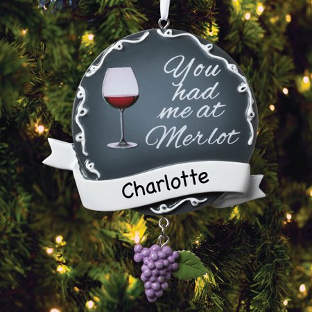You Had Me at Merlot Personalized Ornament ()