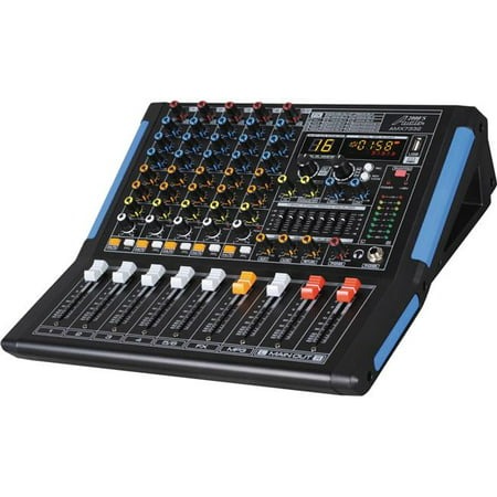 Audio2000s Amx7332 Professional Six Channel Audio Mixer With Usb Interface  44  Bluetooth