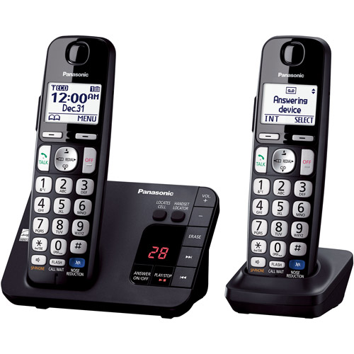 Panasonic KX-TGE232B Expandable Digital Cordless Answering System with 2 Handsets