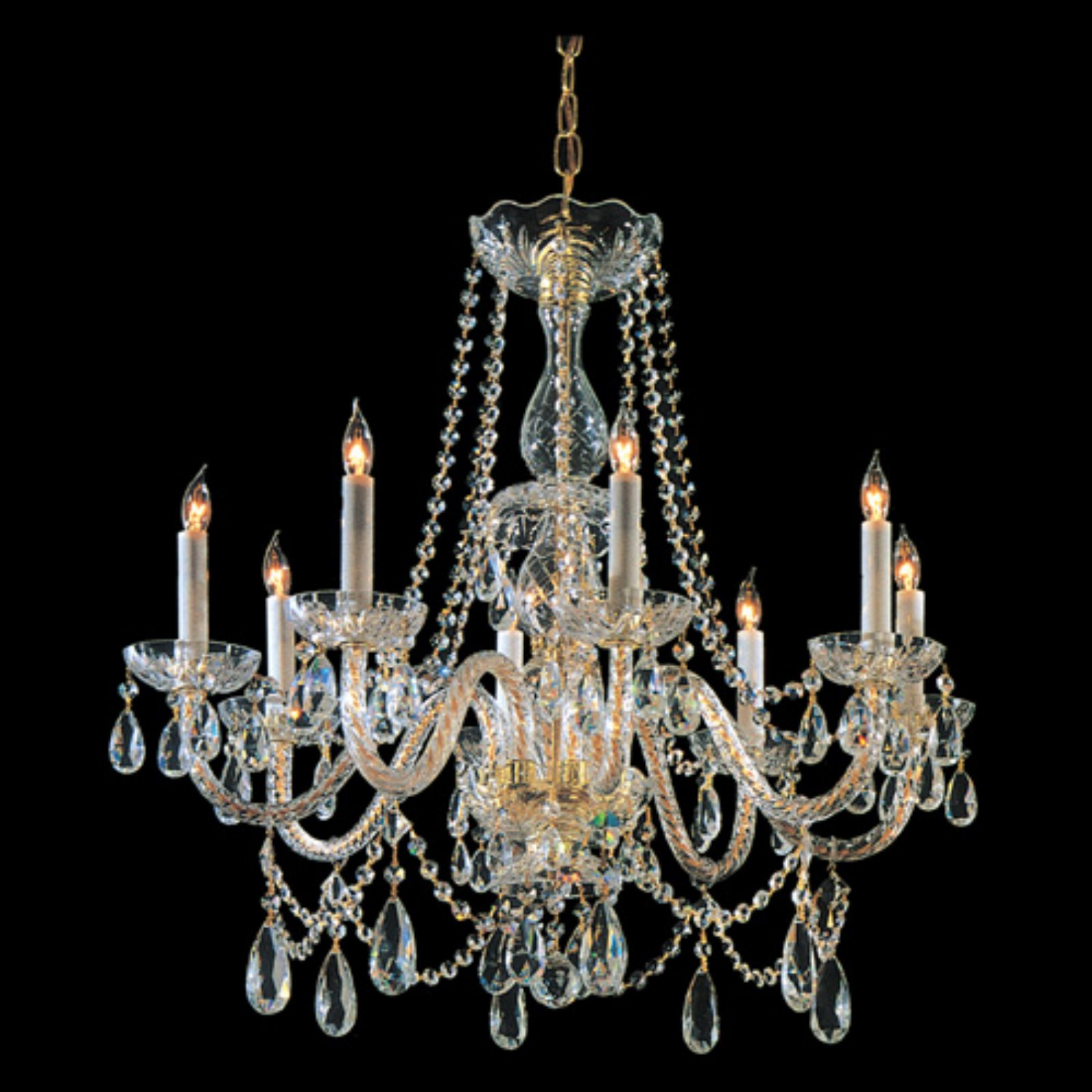 Crystorama 1128-PB-CL-S Traditional Swarovski Elements Crystal Chandelier 26W in. by Crystorama
