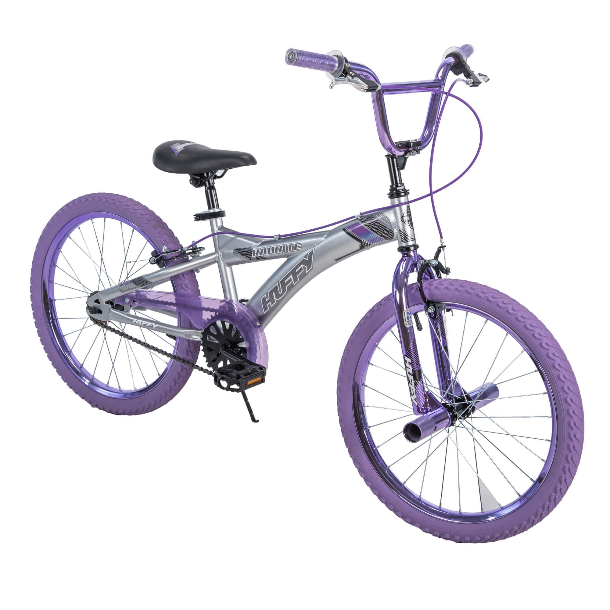 "Huffy 20"" Radium Girls' Metaloid BMX-Style Bike, Purple"