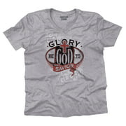 Glory God Savior Christian Shirt Jesus Christ Religious Gift V-Neck T-Shirt