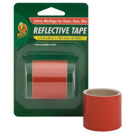Duck brand red reflective tape 1 5 x 30 for Fish tape walmart