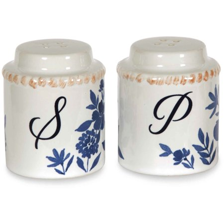 Pavilion Gift Company 86134 Ceramic Salt and Pepper Set, 2-3/8