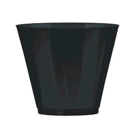 Amscan Amscan Big Party Pack Jet Black Plastic Cups (72pc Set) Party Supplies and Decorations