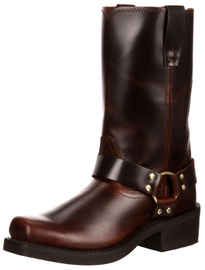 """Durango Motorcycle Boots Mens 11"""" Harness Leather Rubbed Brown DB514 by Durango"""