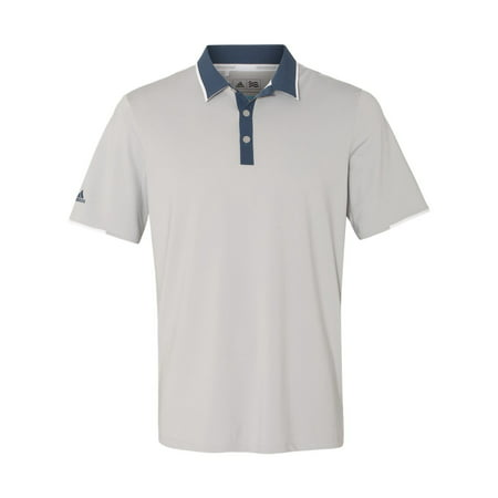 dbd8cf479f5e adidas - Adidas A166 Men s Climacool Performance Polo -Stone Blue White-Medium  - Walmart.com