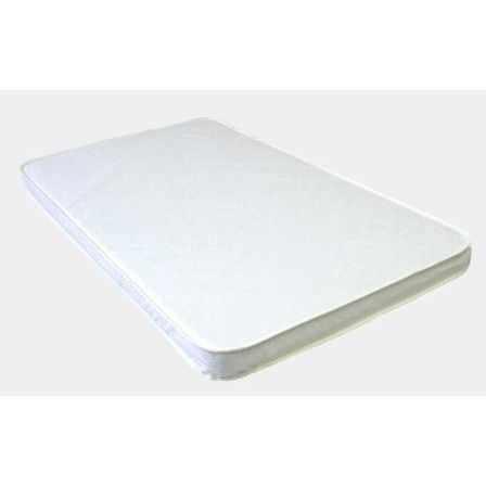 Baby Luxe by Priva Cradle Pad Quilted White Vinyl
