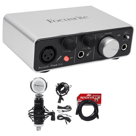 Focusrite ITRACK SOLO LIGHTNING USB Audio Recording Interface+Studio