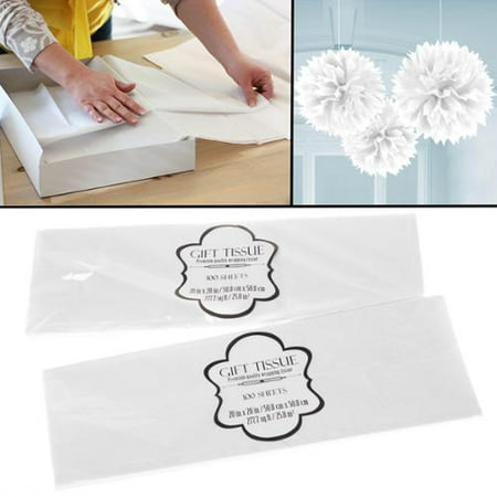 200 Sheets Premium White Tissue Paper 20