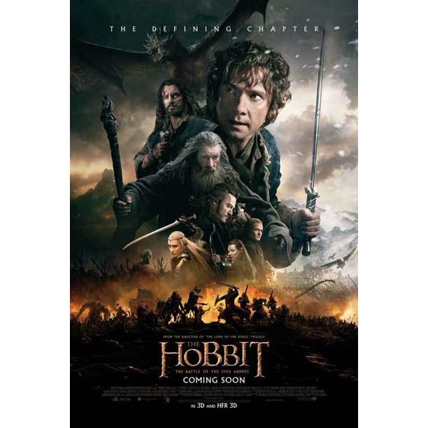 The Hobbit The Battle Of The Five Armies 2014 27x40 Movie Poster Walmart Com Walmart Com