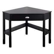 costway corner computer desk laptop writing table wood workstation home office furniture - Corner Side Tables