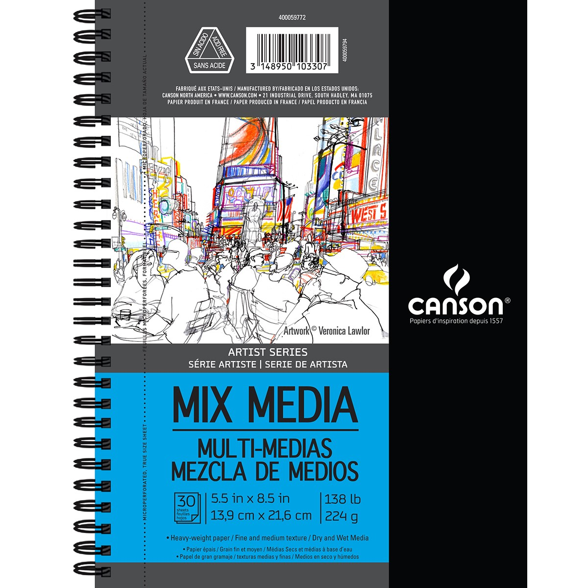 "Canson Mix Media Pad, 5.5"" x 8.5"", 30 Sheets"