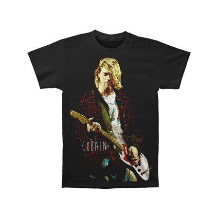 T Bird Jacket (Nirvana Men's  Kurt Cobain Red Jacket Guitar Photo T-shirt)