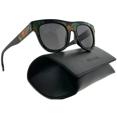 Diesel DL0160-44A-52 Square Unisex Orange Frame Grey Lens Genuine Sunglasses