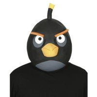 Angry Birds Black Latex Costume Mask One Size