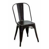 Metallic Chic Industrial Dining Chair, Black, Set of 4