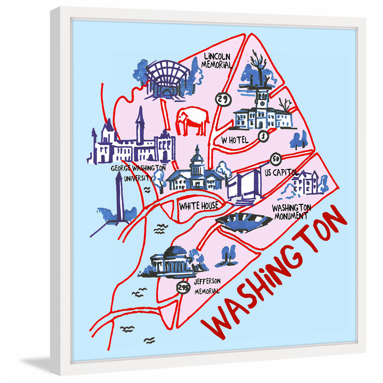 Marmont Hill \'Washington Iconic Sights\' Framed Painting Print ...