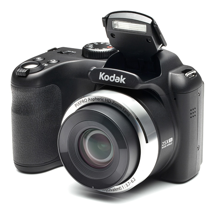 KODAK PIXPRO AZ252 Bridge Digital Camera - 16 MP - 25X Optical Zoom - HD 720p Video (Black)